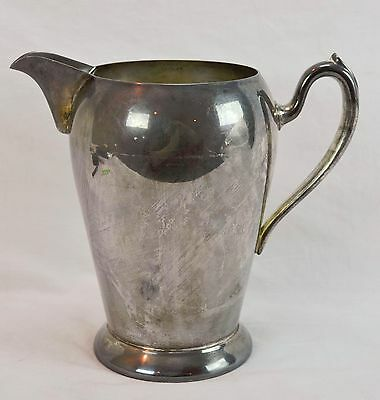 """Vintage Silver Plate On Copper 105 8"""" Tall Water Pitcher Made By Academy"""