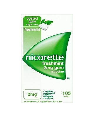 Nicorette  Freshmint 2Mg Sugar-Free Chewing Gum - Pack Of 105