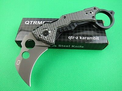 Karambit Claw Silver Stainless Steel Aluminum Sport Hunting Knife kb20