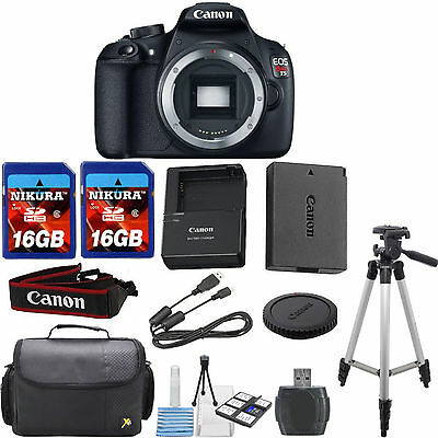 Canon EOS Rebel T5 Digital SLR Camera Body Bundle with 32GB Memory + 10pc Kit