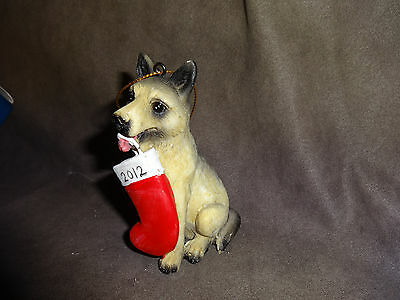 2012 GERMAN SHEPARD ORNAMENT STOCKING~PUPPY DOG ~NEW IN BOX police k-9 unit
