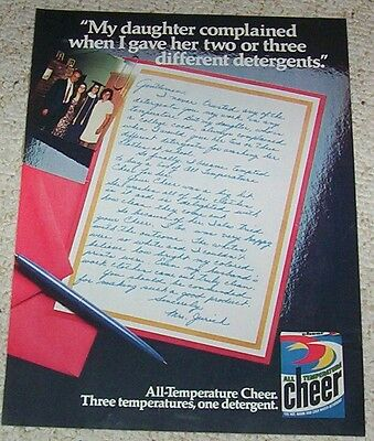 1977 vintage ad - CHEER Laundry soap JURICH detergent 1-PG print AD