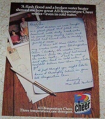 1977 vintage ad - CHEER Laundry soap DALE NEWLAND detergent print AD