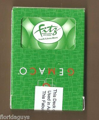 FITZGERALDS HOTEL, CASINO PLAYING CARDS (GREEN) - LAS VEGAS NV - THE FITZ