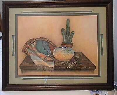 "VINTAGE (1980s) Southwestern Picture  31""x 25"" x 1""- by  Home Interiors"