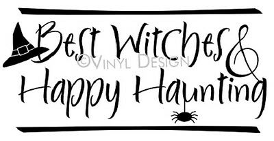 Best Witches Happy Haunting Quote Vinyl Wall Art Design Home Decor Sticker