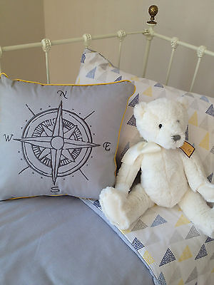 4 pce Baby Boys Alexander Cot Quilt Crib Cover Wool Quilt Pillow Case & Cushion