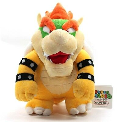 """Nintendo Super Mario Brothers Bros Party Bowser 10"""" Stuffed Toy Plush Doll"""