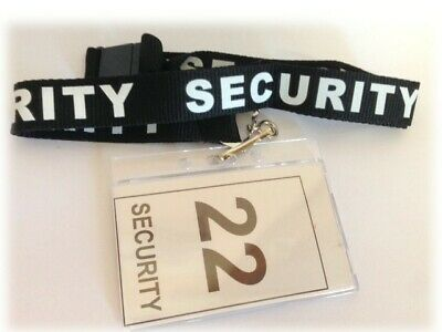 3 x Security Lanyards - Printed & NEW