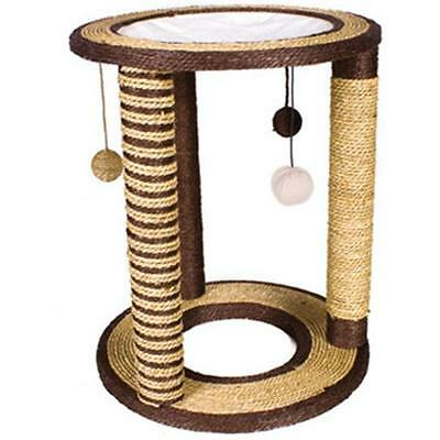 Cat Scratching Post Lounger Kitty Perch Multiple Poles Sturdy Sisal Playground
