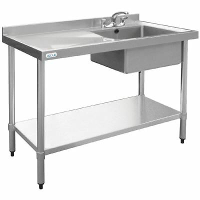 Vogue Stainless Steel Single Bowl Sink LH Drainer 1000mm Kitchen Furniture