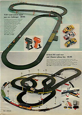 1977 ADVERT Tyco Tri Level HO Road Race Toy Chessie Railway Railroad Line Set