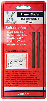For Trend Planer Blade Set 82mm (1 x Pair) for Makita Dewalt Bosch