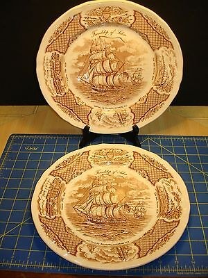 """""""FAIR WINDS"""" HISTORICAL SCENES OF CHINESE EXPORT TO AMERICA DINNER PLATES"""