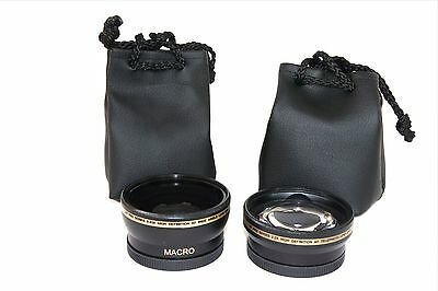 2Pc Lens Set Pro HD Wide Angle & Telephoto Lens Set for Canon Powershot SX30 IS