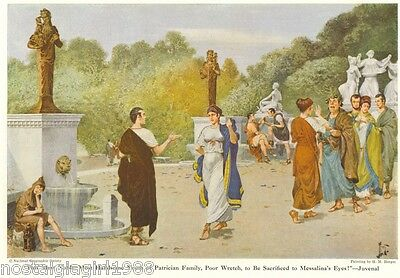 1946 Print Roman Gardens of Lucullus Pincian Hill Italy Painting by H.M. Herget