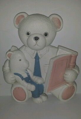 HOMCO PLASTIC BEARS CHILDS WALL ART - VINTAGE MADE IN USA
