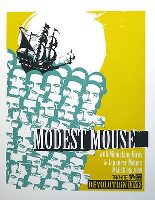 """MODEST MOUSE: Show Poster, Special Edition Silk Print 18""""x24"""" - MINT"""