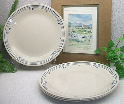 """Lot of 4 Corelle Corning Ware COUNTRY VIOLETS  10 1/4""""  Dinner Plates  EXCELLENT"""