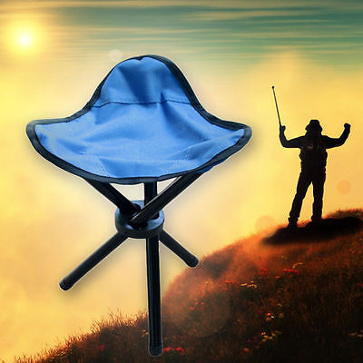 Outdoor Hiking Fishing Lawn Portable Folding Chair With 3 Legs Stool Dark S size