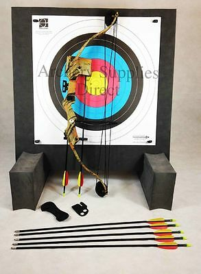 ASD Typhoon 25Lbs Camo Archery Compound Bow Starter Package W/ Foam Boss & Feet