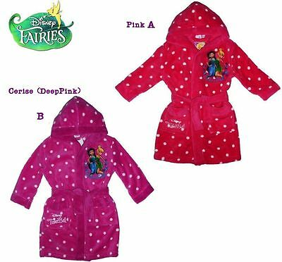 Girls bathrobe Tinkerbell hooded dressing gown pink robe Disney Tinkerbell new