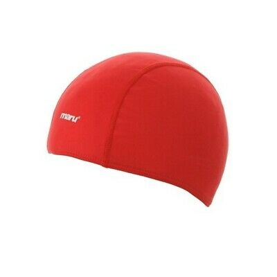 Maru Polyester Adult Swimming Cap - Red