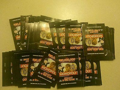 MONOPOLY ALBERTSON - Free S/H - PIECE CARDS - 50 CARDS SEALED UNOPENED