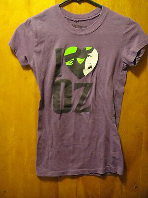 I HEART WITCH OZ Wicked Wear T Shirt Ladies Small Purple