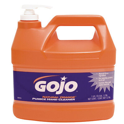 GoJo® Orange™ Industrial Hand Cleaner with Pumice Scrubbing Particles  1 Gallon