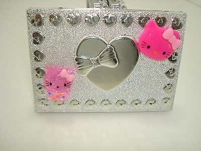 CUTE HELLO KITTY HEART COMPACT MAKE UP COSMETIC MIRROR FAVOR SWEET 16 FAVOR