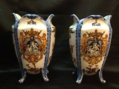 Pair of lovely late 19th century Gien French vases
