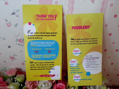 300pcs Thank You For Your Purchase Seller Notes Card After-sales Service Card