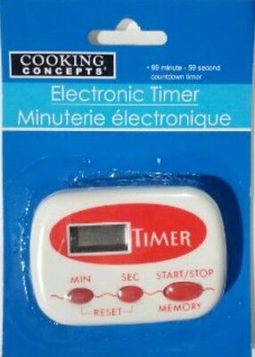 Cooking Concepts Digital Electronic Kitchen Timer battery included