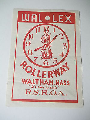 VINTAGE Roller Skating Rink Decal WAL LEX Rollerway Waltham Massachusetts
