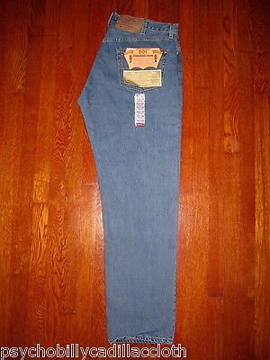 NWT BRAND NEW OLD STOCK LEVI'S ORIGINAL 501 DENIM JEANS MADE IN THE USA 42x34
