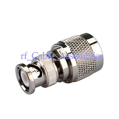 10pcs UHF PL259 PL-259 male plug to BNC male straight RF Coax connector adapter