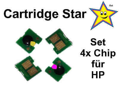 Set 4x Toner Reset Chip für HP LaserJet Pro 400 color MFP M475, 305a
