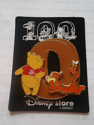 JDS Japan Disney Store 100 Years Of Magic NUMBER ZERO Winnie The Pooh Tigger Pin