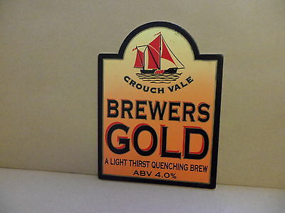 Beer Pump Clip Badge Crouch Vale Brewers Gold Supreme Champion BP3