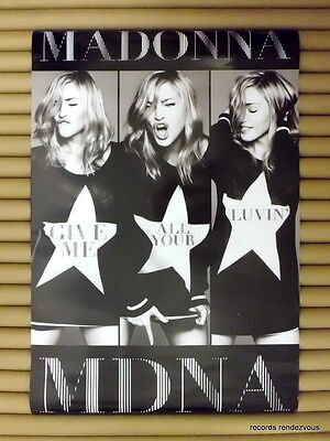 MADONNA Give Me All Your Luvin' Promo Poster [2012]*Official Orig Hong Kong Mdna