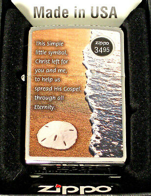 ZIPPO  LEGEND SAND DOLLAR  Lighter  SIMPLE  LITTLE  SYMBOL  Christ Left   MIB