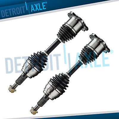 Complete Set (2) FRONT left & right cv axle shaft 4X4 6LUG for CHEVY GMC truck