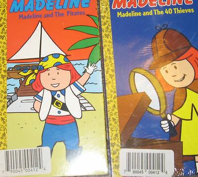 NEW/Sealed Lot of 2 Madeline VHS Movies Videos
