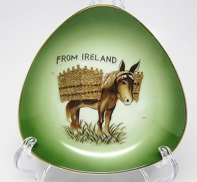 Donkey with Baskets - Souvenir Trinket / Pin Dish from Ireland