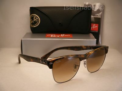 tortoise shell clubmaster gr30  Ray Ban Oversize Clubmaster Matte Tortoise w Brown Gradient Lens RB4175  878/51