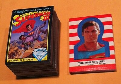 1983 Topps Superman III Trading Cards Set With Stickers & Wrapper