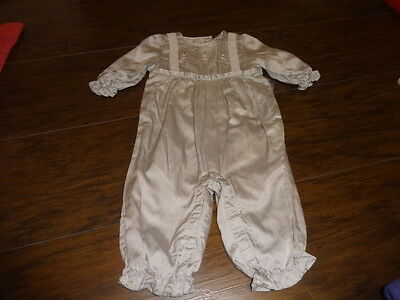 Janie And Jack 3-6 Gray Silk Outfit Gorgeous