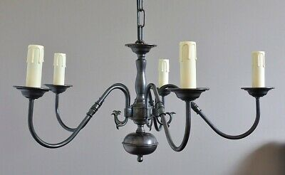EDWARD-FRENCH PROVINCIAL 5 ARM PENDANT LIGHT-BRONZE-available 5 finishes-vintage