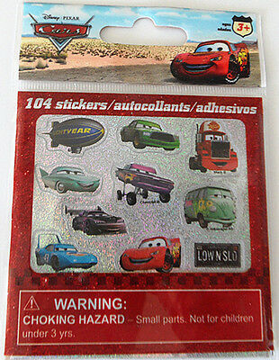 Disney Cars 104 stickers New Arrival